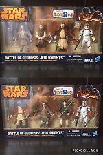 Star Wars Hasbro Battle of Geonosis: Jedi Knights Battle Packs Unopened