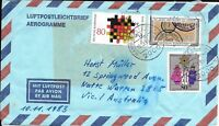 CLB69) Nice W. Germany 1983 Cover German Customs, Fed State Gov.'s, Christmas