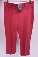 NWT LYNN RITCHIE SILVER Crop Pants Coral Pink Size M NEW NOS
