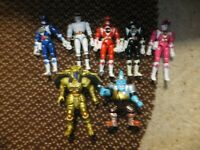 Classic Power Rangers Action Figure Lot Bandai 1993~(90s) 7 Figures Rare