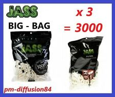LOT de 3 SACHETS de 1000 FILTRES Mousse. 6mm (3000 Filtres) - JASS - BIG BAG