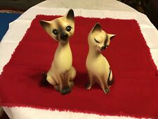 Vintage Siamese Cat Figurine With Whiskers Arnart Creation lot of 2 Japan