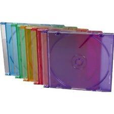 10 Paquete Delgado CD DVD Multi couloured Jewel estuches en rosa azul púrpura..