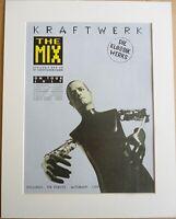 KRAFTWERK The Mix Die Klassik Werks 1991 Music Press Poster Type Advert In Mount