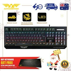 Gaming Keyboard Blue switch Mechanical RGB Free XL- Mousemat