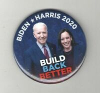 2020 Campaign  pin Joe BIDEN & KAMALA HARRIS pinback BUILD Back BETTER