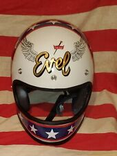 "EVEL KNIEVEL STUNT CYCLE HELMET, COLOR ""ME LUCKY"""