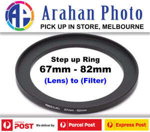 Step Up Ring 67-82 Filter Lens Adapter 67mm Filter to 82mm Lens