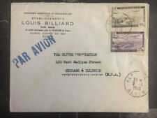 1949 Algeria Commercial cover Agricultural Machinery To Chicago IL Usa