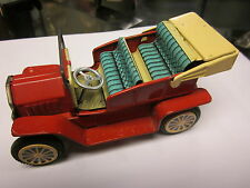 """6"""" Vintage Made in Japan Car Friction Tin Litho Toy Works"""