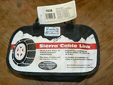 """Laclede Sierra Cable Link 1938 Tire Chains for 14/15/16/17"""" Tires 215R-14 205R15"""