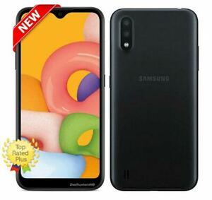 "Samsung Galaxy A01 - Straight Talk - 5.7"" HD+ 13MP 16gb Black Prepaid Smartphone"