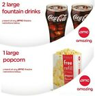 AMC Theaters (2) LARGE DRINK and (1) LARGE POPCORN Expires 06/30/2022 - SAME DAY