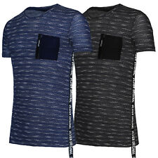 T-Shirt Uomo Cotone Maglia Casual Slim Fit Maglietta Mezza Manica Corta