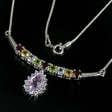 Cluster Natural Amethyst Fine Necklaces & Pendants