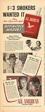 194 WW2 Ad ALL AMERICAN CIGARETTES Axton-Fisher Tobacco Louisville KY 090315