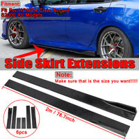 For Honda Civic Accord Coupe / Sedan 9TH 10TH S2000 Side Skirts Extensions Panel