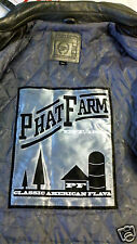 Men's Phat Farm Fancy Grey Genuine Leather Jacket Coat Platinum Silver 3XXX 3XL