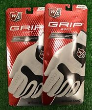 Wilson Staff Grip Soft Golf Gloves -2 Pack Mens: Fits on the Left Hand -XL