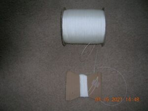 ( PELLA )  Raise & Lower Pleated Shades , Blinds CORD-STRING Nylon WHITE 100 FT