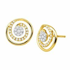 1/5 ct Diamond Spiral Stud Earrings in 14K Gold