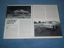 1977 Chevy Chevette Rally 1.6 Vintage Road Test Info Article