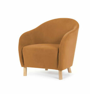 Velvet Chair Caramel, Suitable For Indoor Style Of Your Home Decor F1