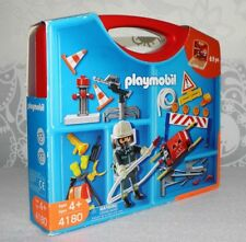Playmobil Fireman Firefighter 4180 Take Along Set Playset 63 pc Carrying Case