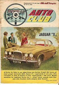 RARO INSERTO INTREPIDO AUTO CLUB JAGUAR X 1961 FLAVIA COUPE' GO KART COLLEZIONE