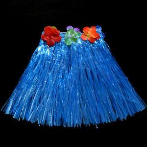 Kids Boys Girls Hawaiian Hula Grass Beach Skirt Flower Wristband Party Dress HCA