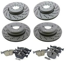 Zimmermann Front & Rear Cross Drilled Brake Discs and Pads Kit For BMW E46 M3