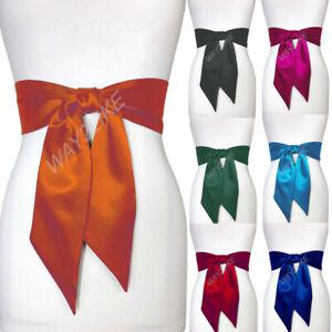 Long Satin Sash Belts Party Dress Bridesmaid Double Faced Sash Wedding For Women