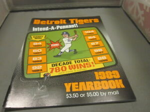 1989 Detroit Tigers Yearbook FREE SHIPPING