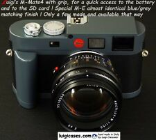 LUIGI's M-MATE3/4,BASEPLATE+GRIP,QUICK BATTERY/SD CARD CHANGE,LEICA M-E FINISH.