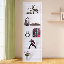 White Bookcase Shelf Tall Wooden Shelves Bookshelf Storage Shelving Display UK