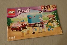 LEGO Friends Instruction Manual Only #3186 Emma's Horse Trailer