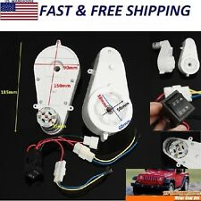 2pcs 30000RPM 12V Electric Motor Gear Box For Kids Ride On Car Bike Gift Toy US