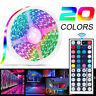 5M RGB 5050 Waterproof LED Strip Light 44Key Remote 12V US Power Full Kit LD2474