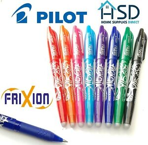 Pilot friXion Pen Erasable Medium 0.7mm Rollerball Heat Erase Rub Out Friction