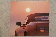 1990 Porsche 944 S2 Cabriolet Showroom Advertising Sales Poster RARE!! Aweosme