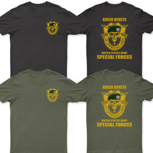 NEW GREEN BERETS SPECIAL FORCES GROUP AIRBORNE MILITARY T shirt