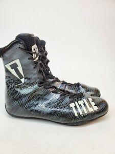 Title Boxing Predator Lightweight Mid-Length Boxing Shoes black Gray Men's 13