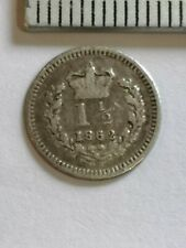 More details for 1862 three-halfpence 925 silver, collectors coin, very good codition. (sd393)