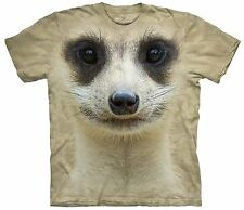 The Mountain Adult Unisex Graphic Tee, Meerkat Face, 2Xl