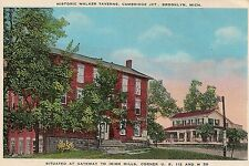 Historic Walker Taverns Cambridge Junction in Brooklyn MI Postcard