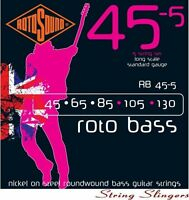Rotosound RB45-5 'Rotobass' Nickel Roundwound 5-String Bass strings 45-130
