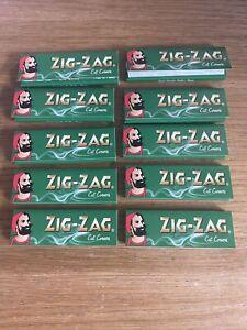 Zig Zag Green Rolling Papers 10 PACK Regular Corner Cut Tobacco Skins Smoking