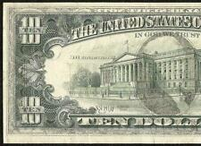 1977 $10 DOLLAR BILL FULL OFFSET PRINT ERROR NOTE CURRENCY PAPER MONEY