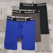 "1 Pack Mens Reebok Long Leg 6""  Midway Quick Dry Trunks Boxer Briefs Size S-XL"
