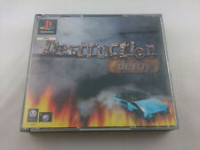 Destruction Derby Sony Playstation 1 1995 PS1 PSX PAL Big Box Spiel Game